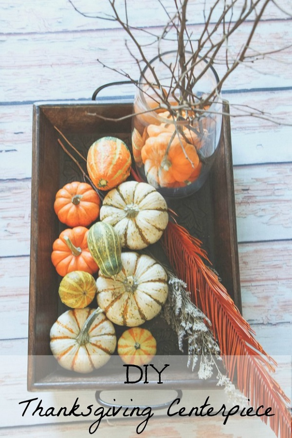 Pumpkin and squash centerpiece