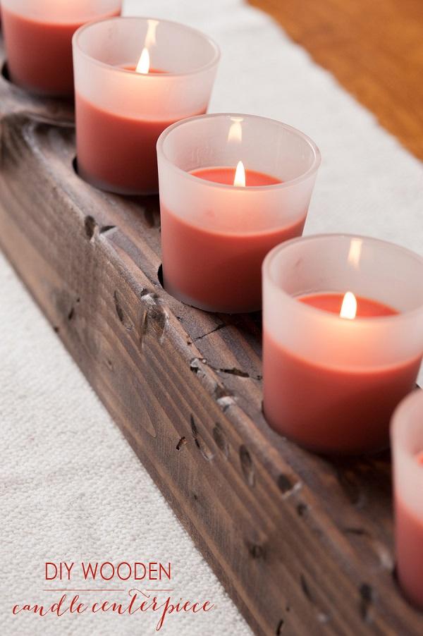 Reclaimed wood candle centerpiece Decoist : Reclaimed wood candle centerpiece from decoist.com size 600 x 902 jpeg 131kB