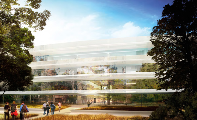 Rendering of Apple's new headquarters in Cupertino