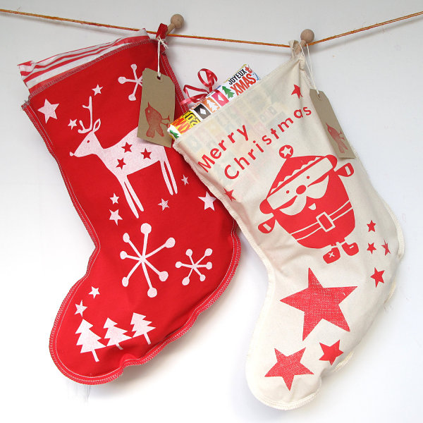 Retro holiday stockings
