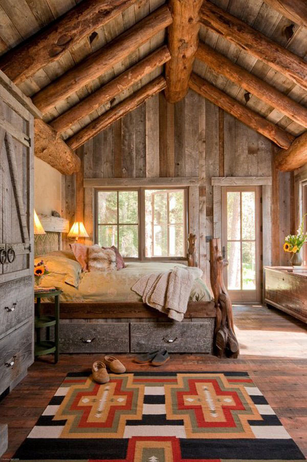 Rustic Bedrooms Decoist 1 21 Cheerful Rustic Bedrooms to Inspire You This Winter
