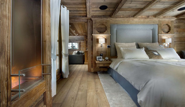 21 cheerful rustic bedrooms to inspire you this winter for Poutre bois decorative