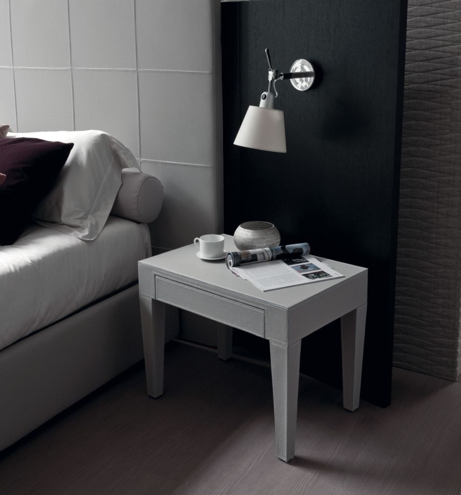 Scandinavian styled bedside table from Porada