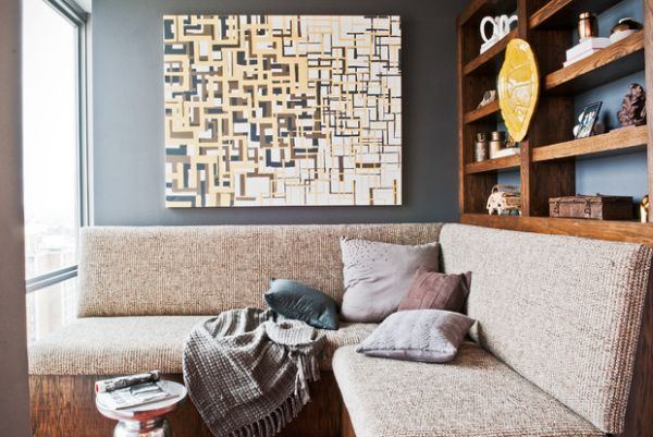 Sectional sofas work well in space-conscious rooms as well
