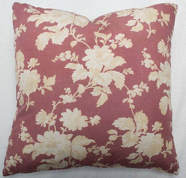 Shabby Chic pillow with rich tones