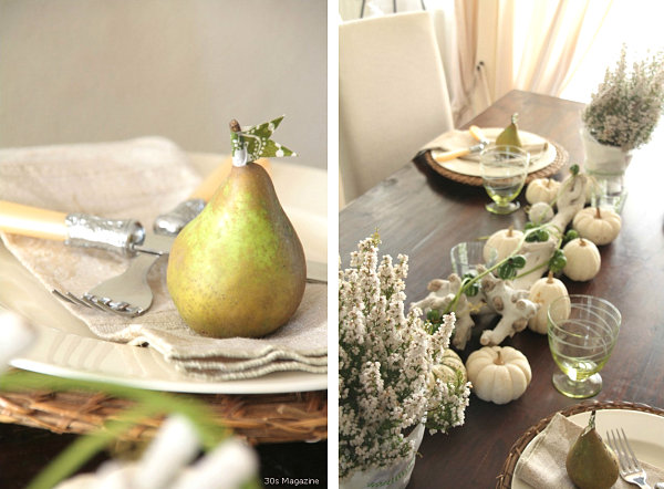 Shabby chic tablescape Thanksgiving Shabby Chic Decor Ideas