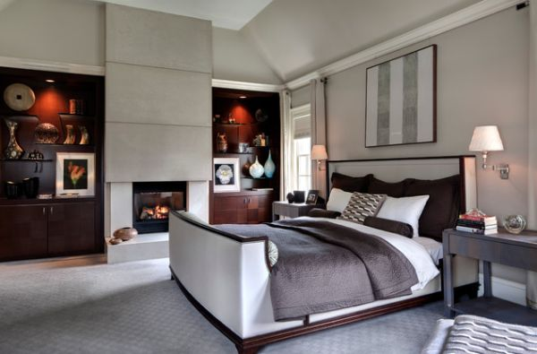 View In Gallery Sleek And Modern Take On The Classic Sleigh Bed Design