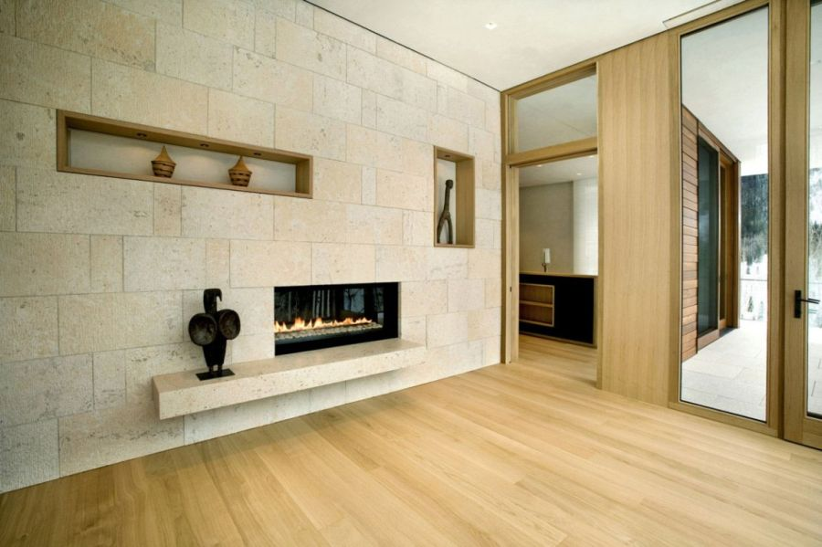 Sleek and stylish fireplace