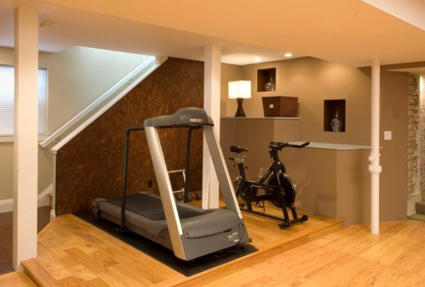 Clever use of space in the home gym