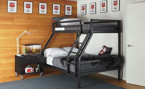 50 modern bunk bed ideas for small bedrooms - Lit superpose 3 places ...
