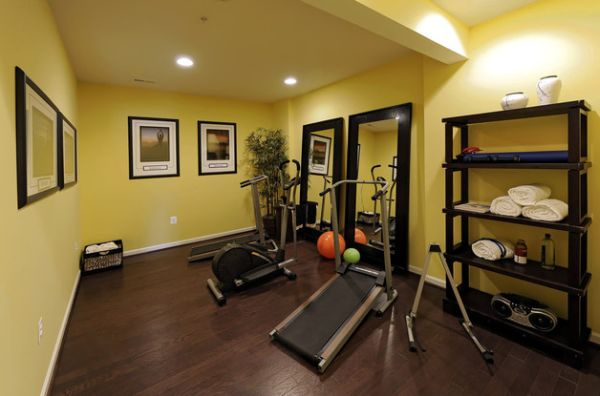 70 home gym ideas and gym rooms to empower your workouts. Black Bedroom Furniture Sets. Home Design Ideas