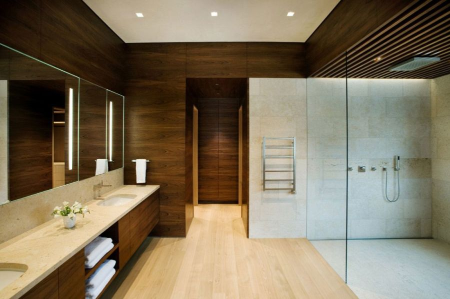 Spa-like contemporary bathroom at home
