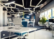 Imaginative Spaceship-Themed Office With A Touch of Sustainability