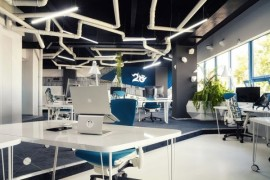 Spaceship themed Game Studio 2o Office in Timisoara