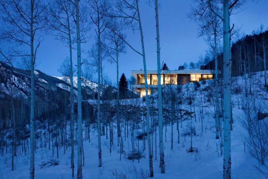 Spectacular surroundings of the stylish aspen home