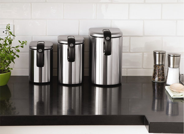 stainless steel canisters decoist all clad stainless accessories canister set 3pc
