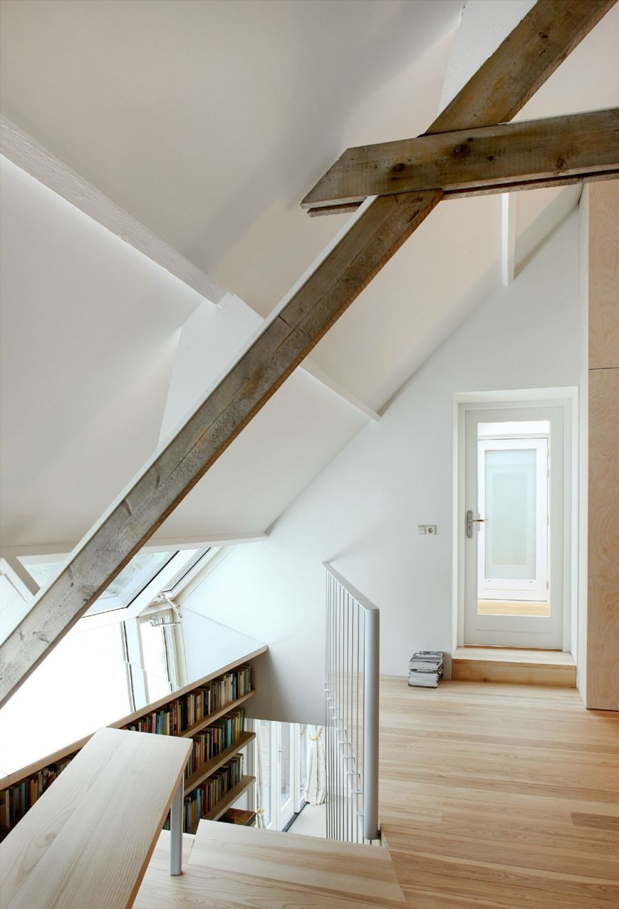 Staircase leading to the attic
