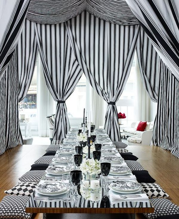 Stripes lend a sense of sophistication