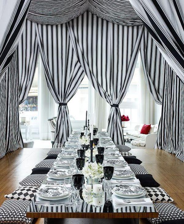 Stripes lend a sense of sophistication