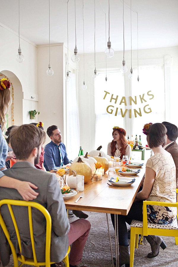 Stylish Friendsgiving from A Beautiful Mess Host a Stylish Friendsgiving Feast