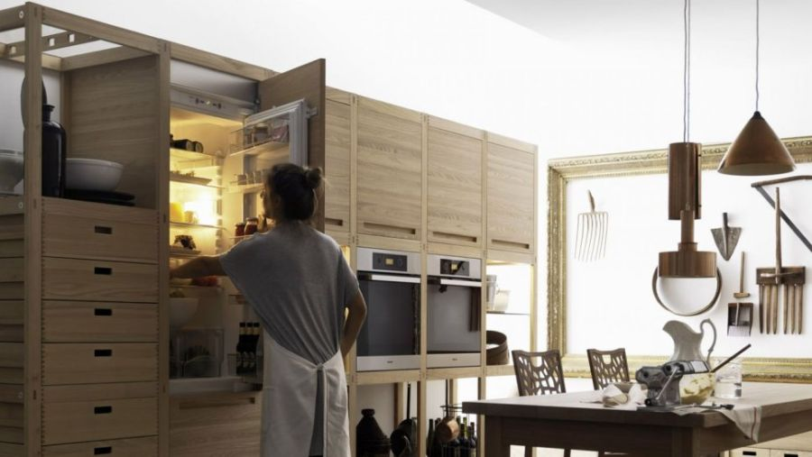 Stylish and functional wooden kitchen cabinets
