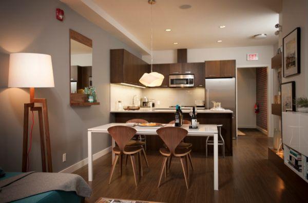 Stylish kitchen with mid-century modern decor