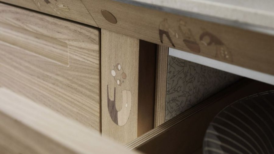 Sustainable wooden kitchen handcrafted cabinets