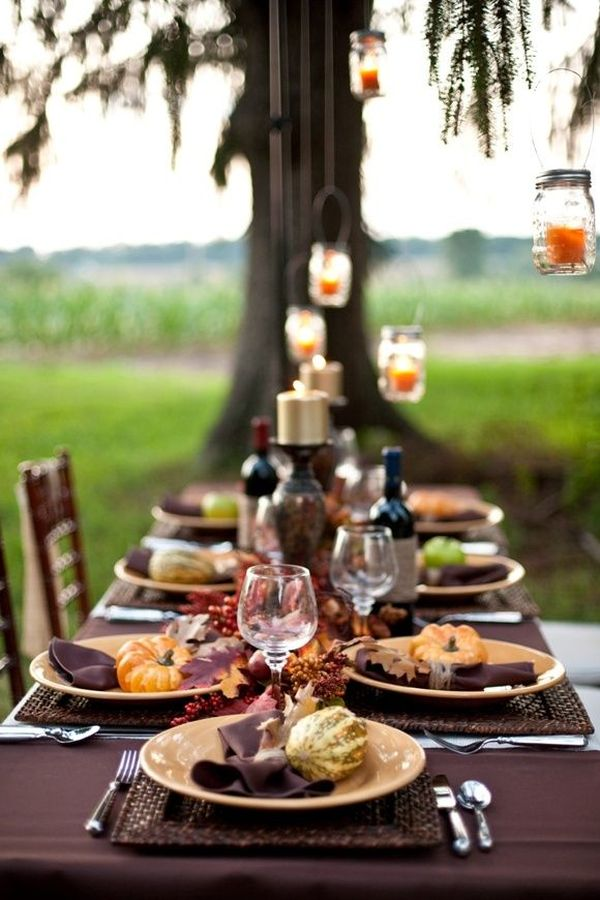 30 natural thanksgiving decor ideas - Thanksgiving dinner table decorations ...