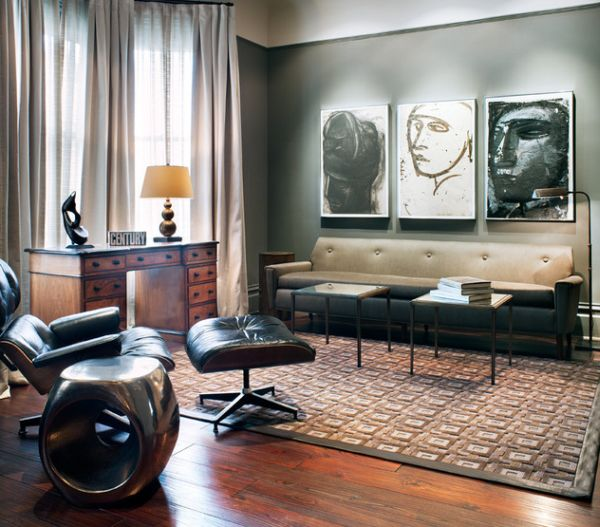Merveilleux View In Gallery The Eames Lounger Is Arguably The Most Loved Chair In Modern  Bachelor Pads!