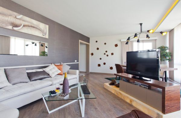 The entertainment unit is the heart of every bachelor pad living room