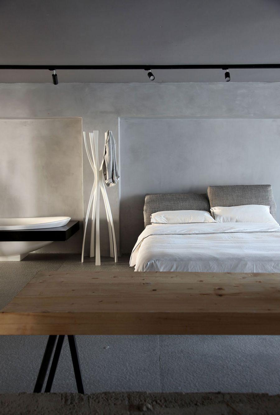 Track lighting idea in the bedroom