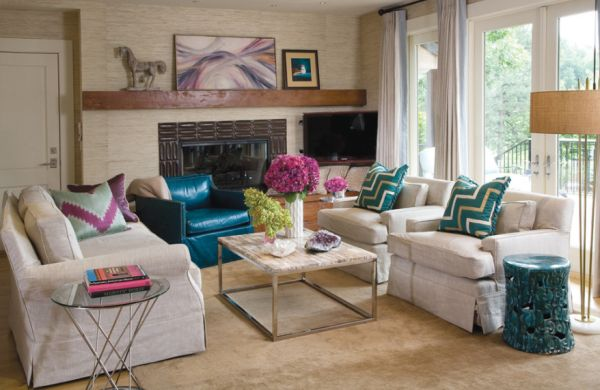 View In Gallery Transitional Living Room Showcases The Cyclone Side Table