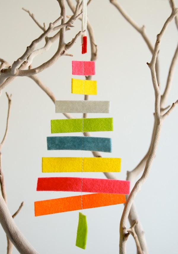 Tree felt ornament
