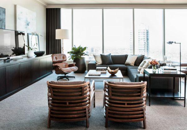 Trendy bachelor pad at the Ritz-Carlton Residences in Atlanta