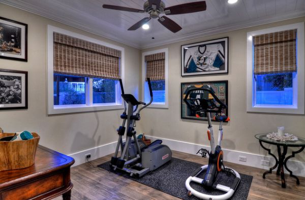 Turn a corner in your spacious room into a workout zone