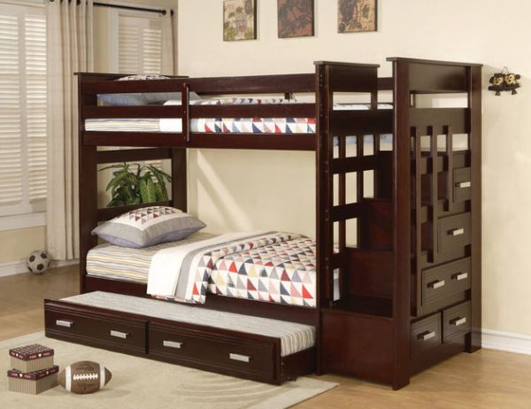 Twin Bunk Beds with Stairs 600 x 462