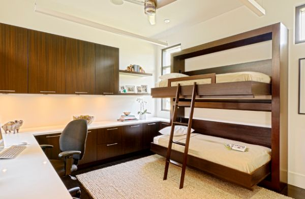 Twin bunk beds that fold away with ease!
