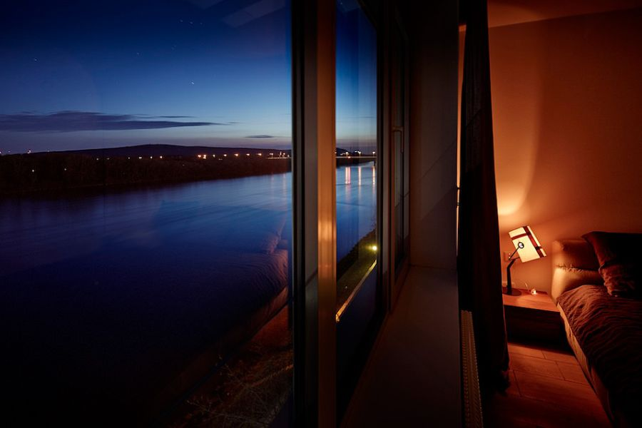 Unabated views of Danube from the Solvakian penthouse