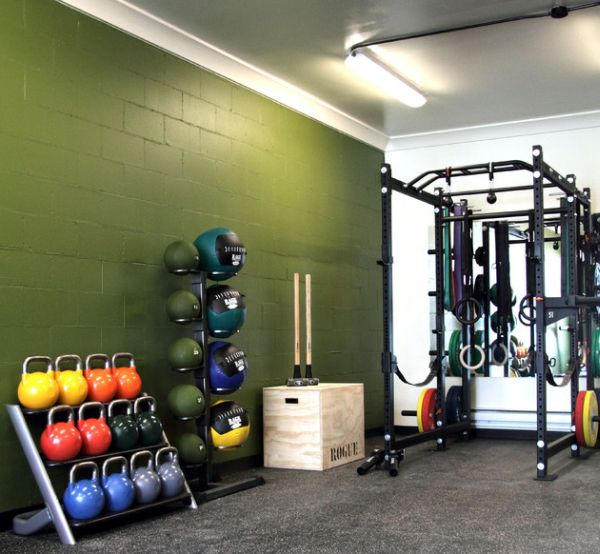 view in gallery use a bit of paint to add color to the home gym