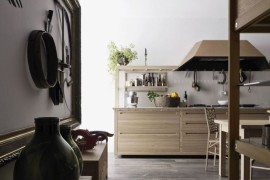 Sleek Kitchen Design With Wooden Inlays by Gabriele Centazzo