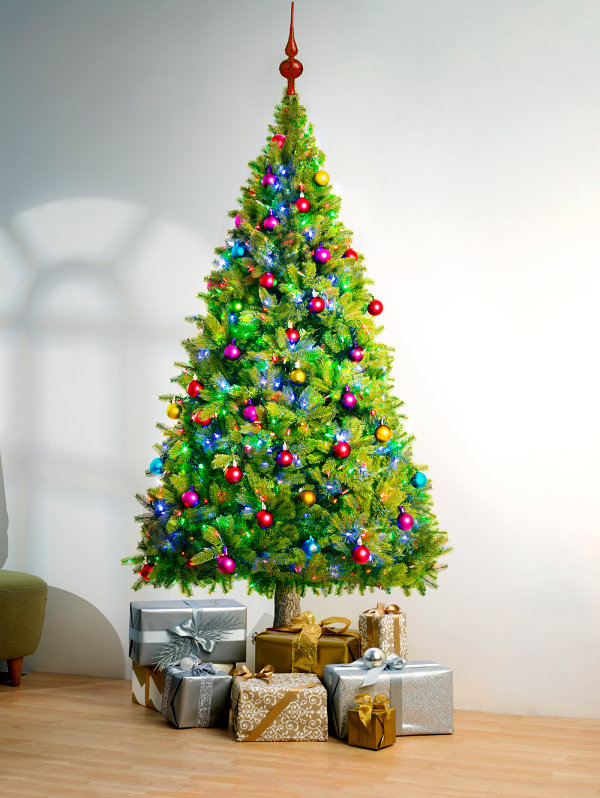 Vibrant Christmas tree