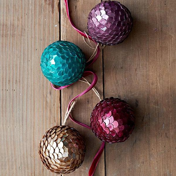 Vibrant glittering ornaments