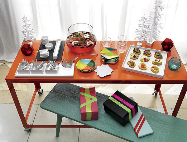 Vibrant holiday spread from CB2