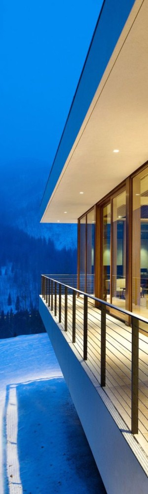 View from the balcony of the Linear House in Aspen, Colorado