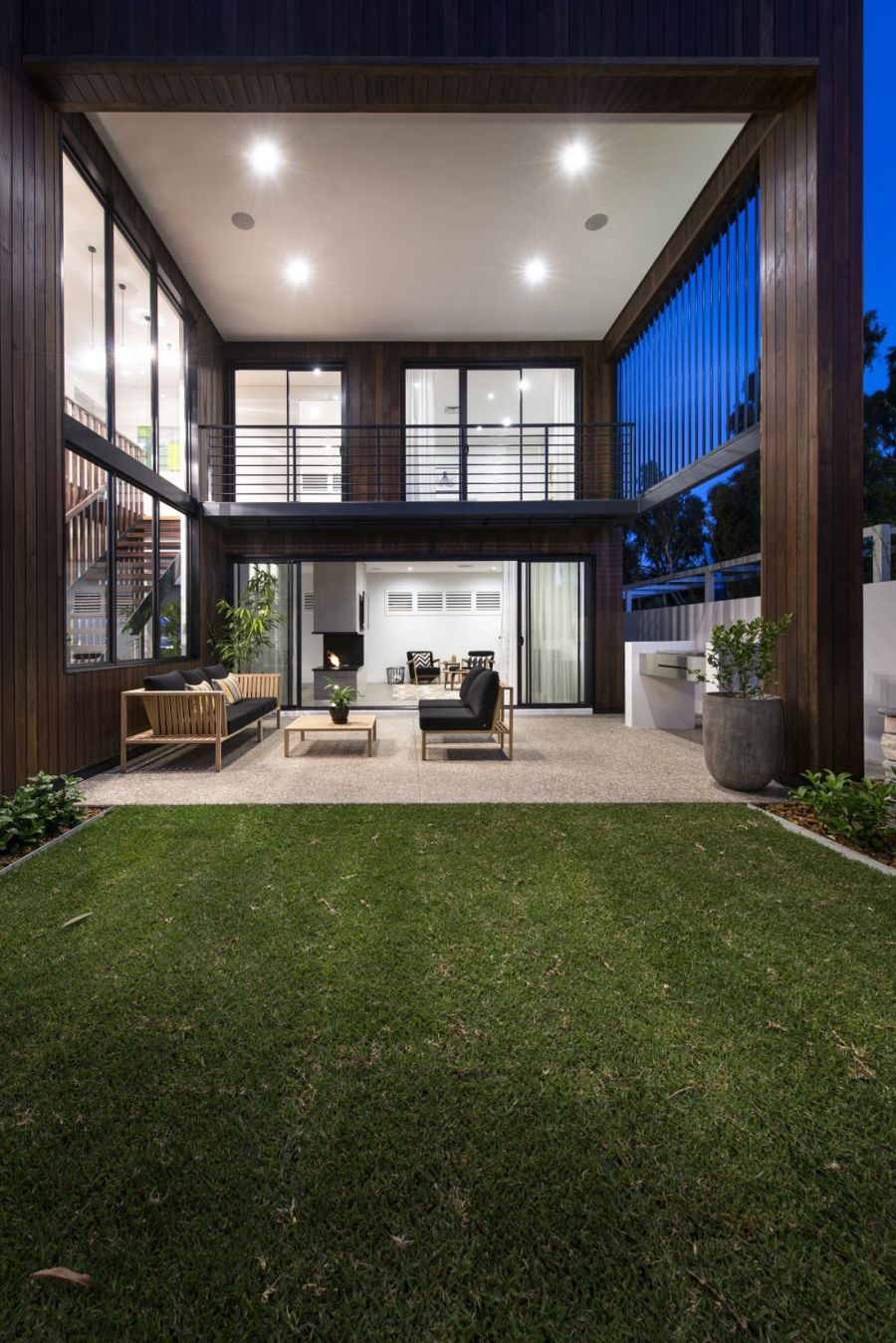 View of he two level Warehaus Residence by Residential Attitudes