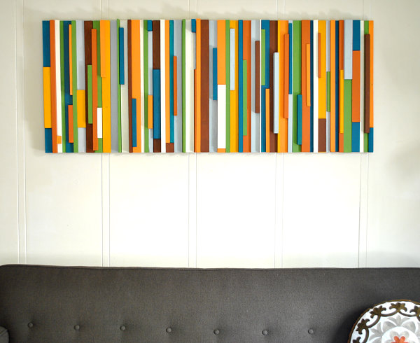 Vintage-style DIY wall art project