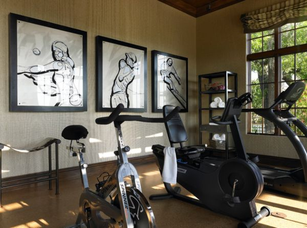 wall art decorating idea for the home gym - Home Gym Ideas