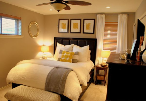 view in gallery warm yellow in the bedroom - Warm Interior Design Ideas
