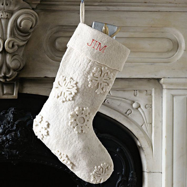 White felt Christmas stockings