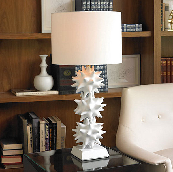 White urchin lamp